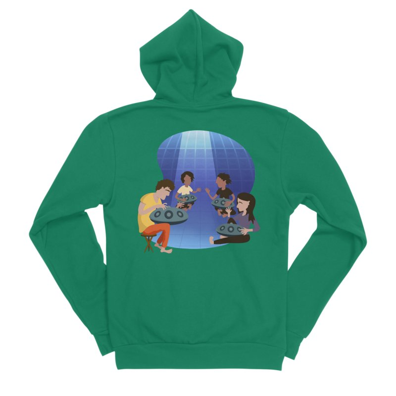 Halo Family Illustration Men's Sponge Fleece Zip-Up Hoody by Pantheon Steel Fan-Art Store