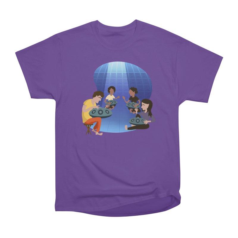 Halo Family Illustration Women's Heavyweight Unisex T-Shirt by Pantheon Steel Fan-Art Store