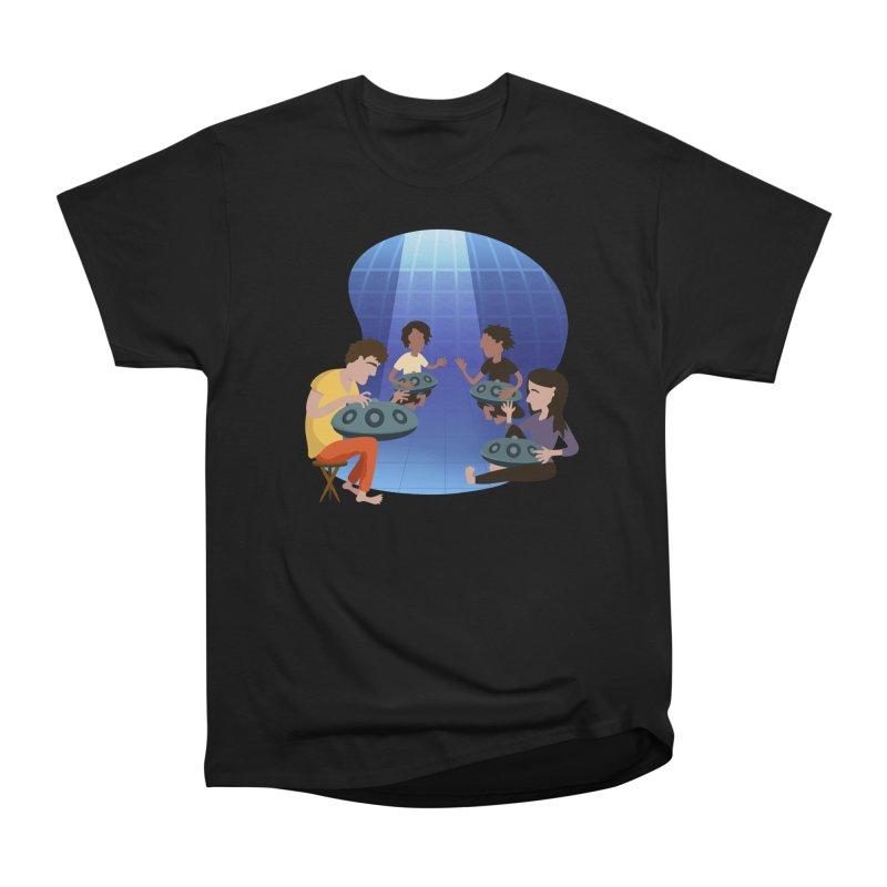 Halo Family Illustration Men's Heavyweight T-Shirt by Pantheon Steel Fan-Art Store