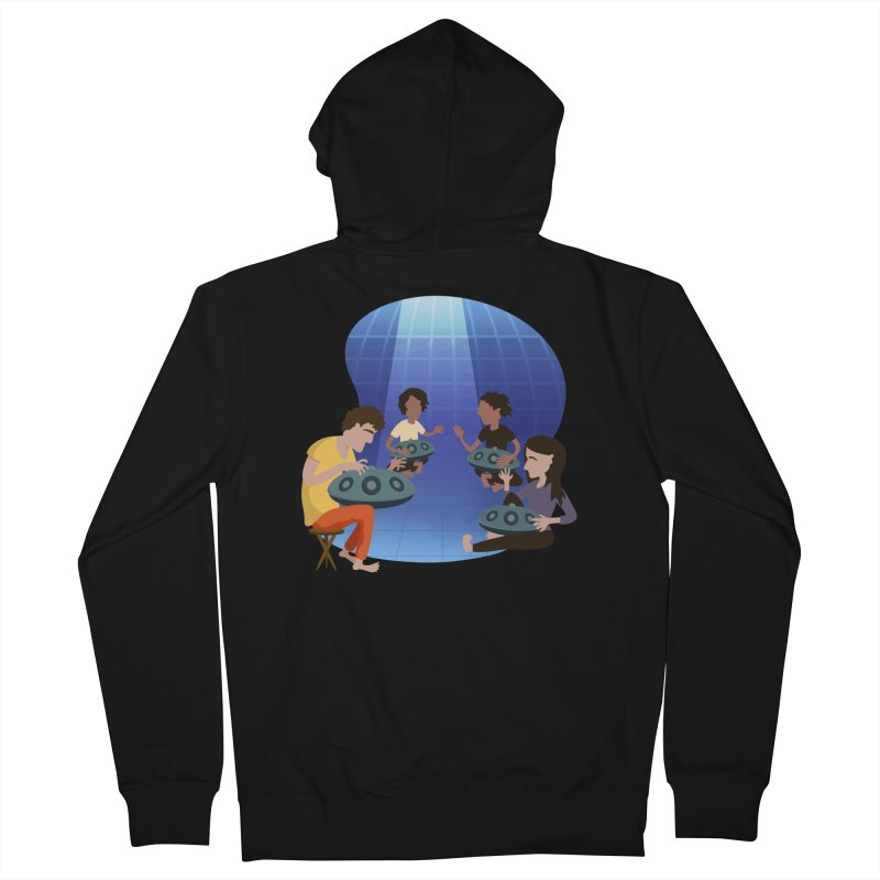 Halo Family Illustration Women's French Terry Zip-Up Hoody by Pantheon Steel Fan-Art Store
