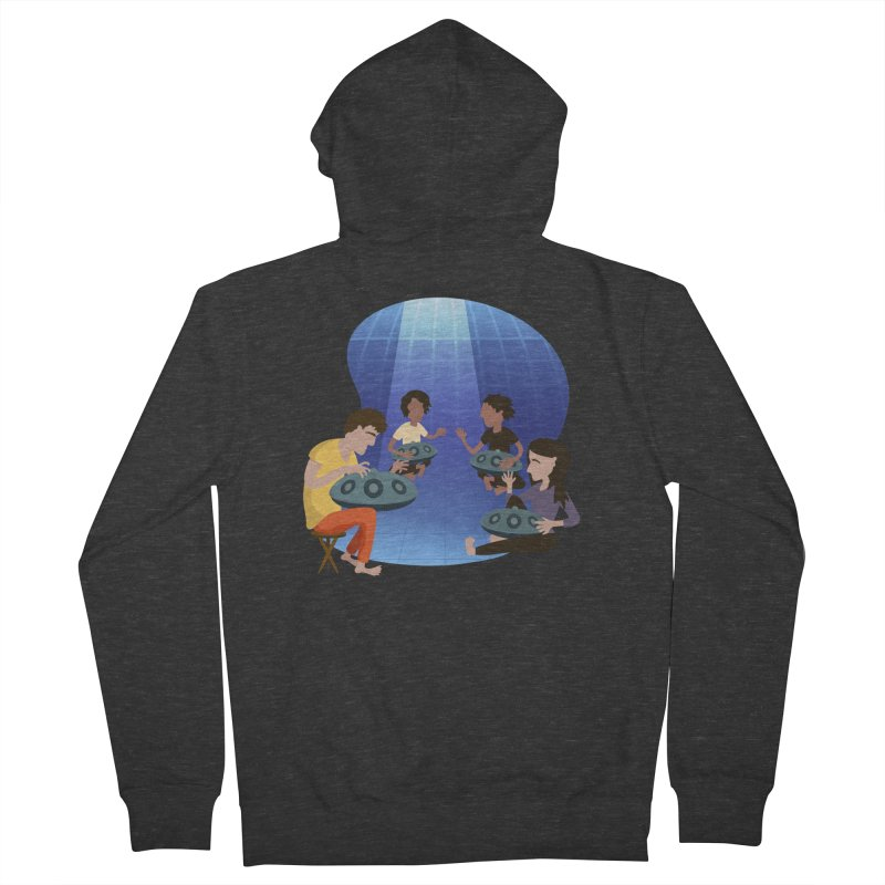 Halo Family Illustration Men's French Terry Zip-Up Hoody by Pantheon Steel Fan-Art Store