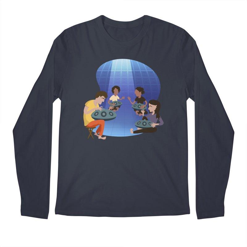 Halo Family Illustration Men's Regular Longsleeve T-Shirt by Pantheon Steel Fan-Art Store