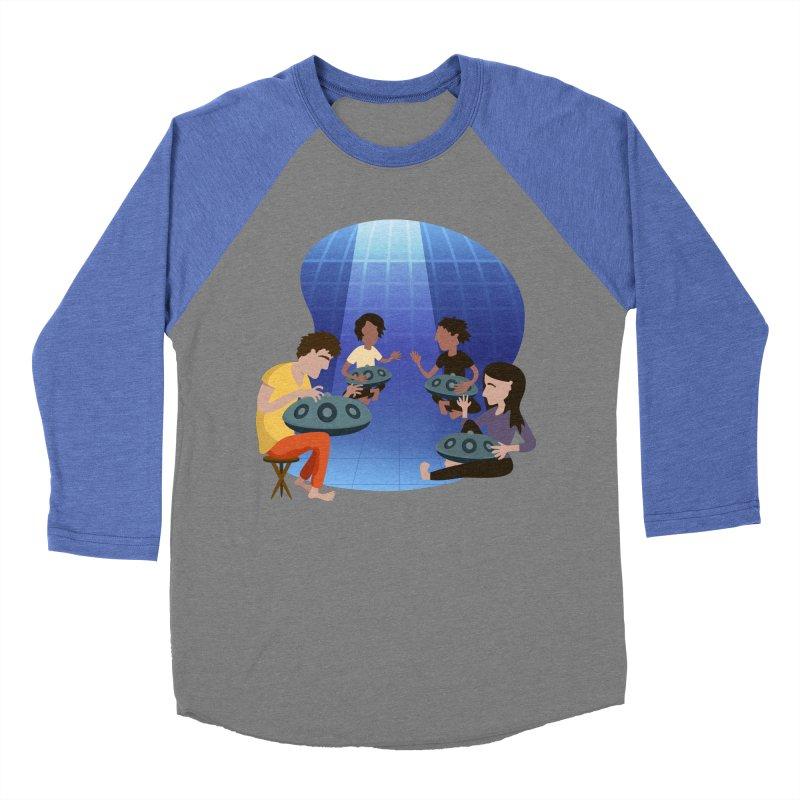 Halo Family Illustration Women's Baseball Triblend Longsleeve T-Shirt by Pantheon Steel Fan-Art Store