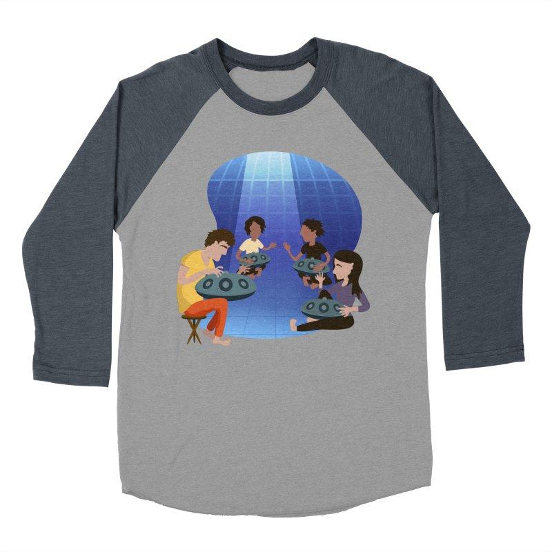 Halo Family Illustration Men's Baseball Triblend Longsleeve T-Shirt by Pantheon Steel Fan-Art Store