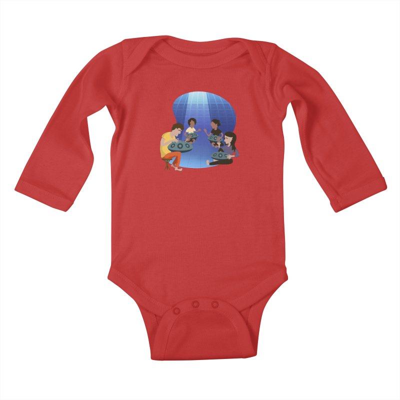 Halo Family Illustration Kids Baby Longsleeve Bodysuit by Pantheon Steel Fan-Art Store
