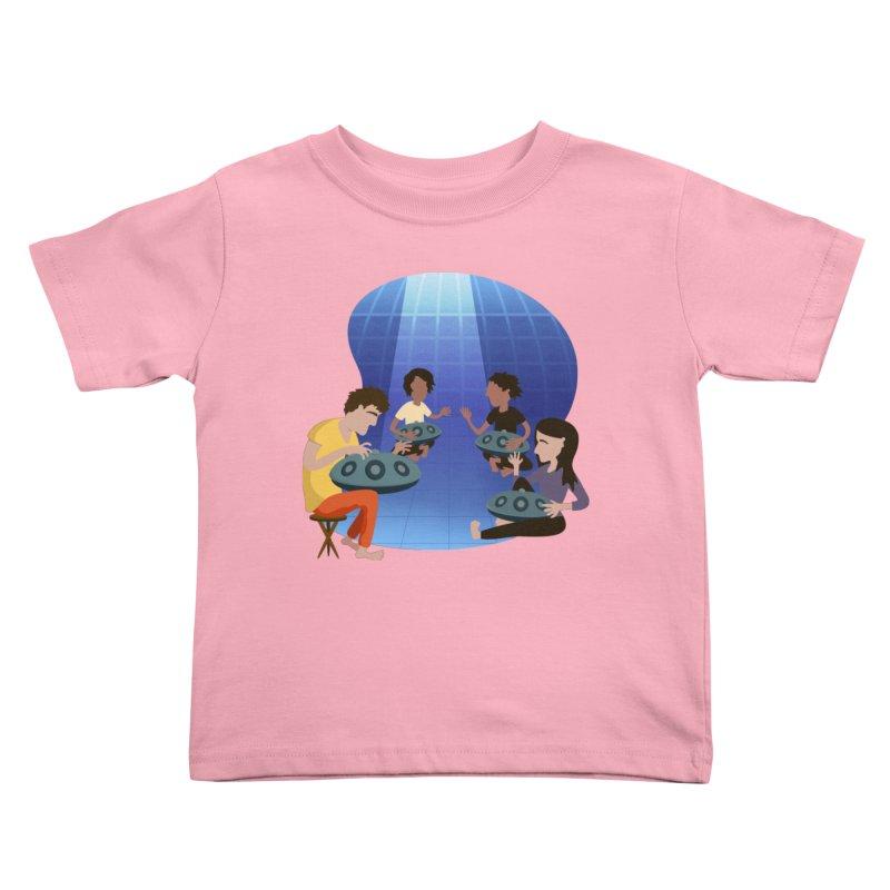 Halo Family Illustration Kids Toddler T-Shirt by Pantheon Steel Fan-Art Store