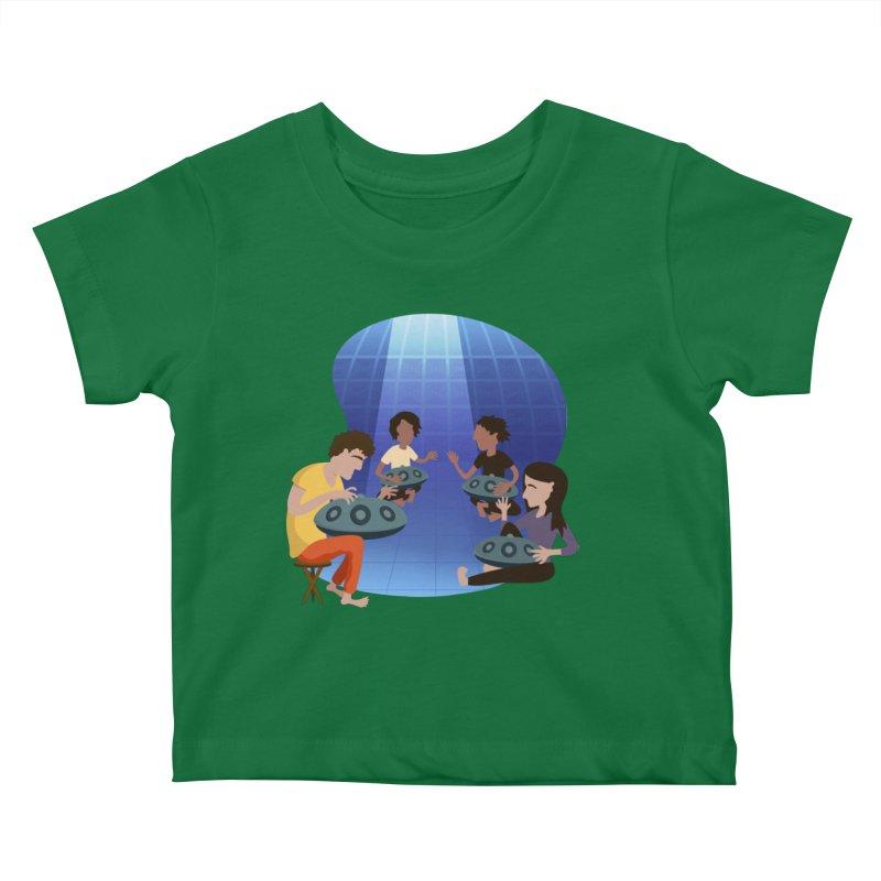 Halo Family Illustration Kids Baby T-Shirt by Pantheon Steel Fan-Art Store