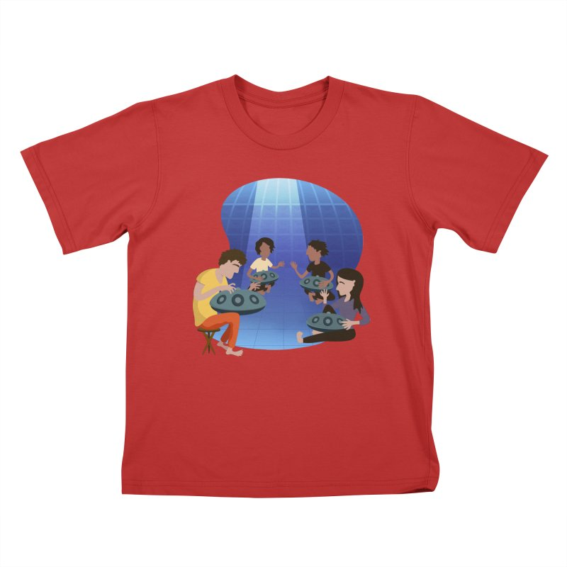 Halo Family Illustration Kids T-Shirt by Pantheon Steel Fan-Art Store