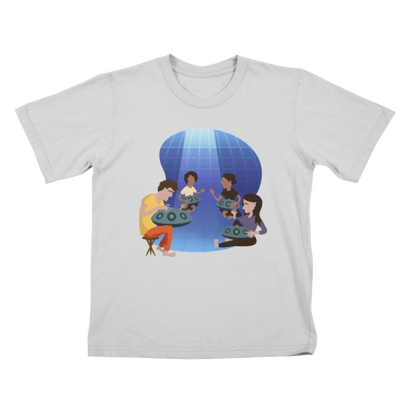 Halo Family Illustration Kids T-Shirt by Pantheon Steel Fan-Art Store
