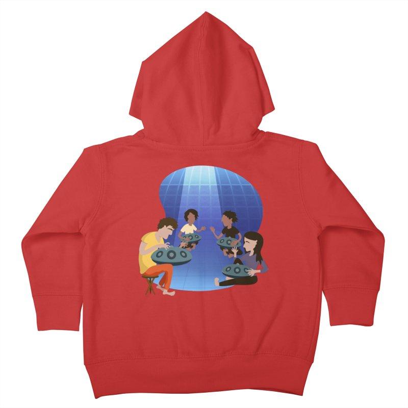Halo Family Illustration Kids Toddler Zip-Up Hoody by Pantheon Steel Fan-Art Store