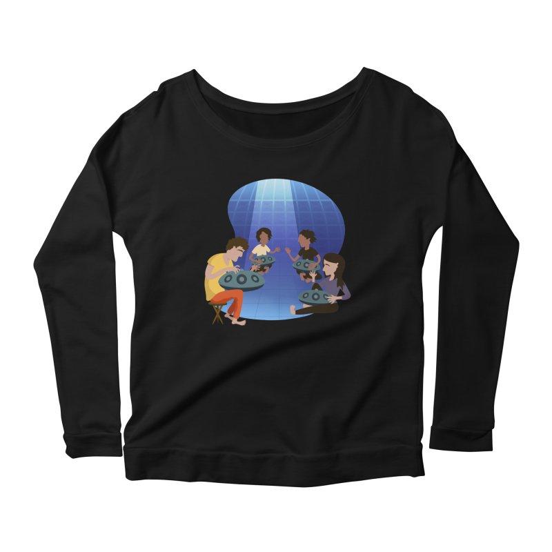 Halo Family Illustration Women's Scoop Neck Longsleeve T-Shirt by Pantheon Steel Fan-Art Store