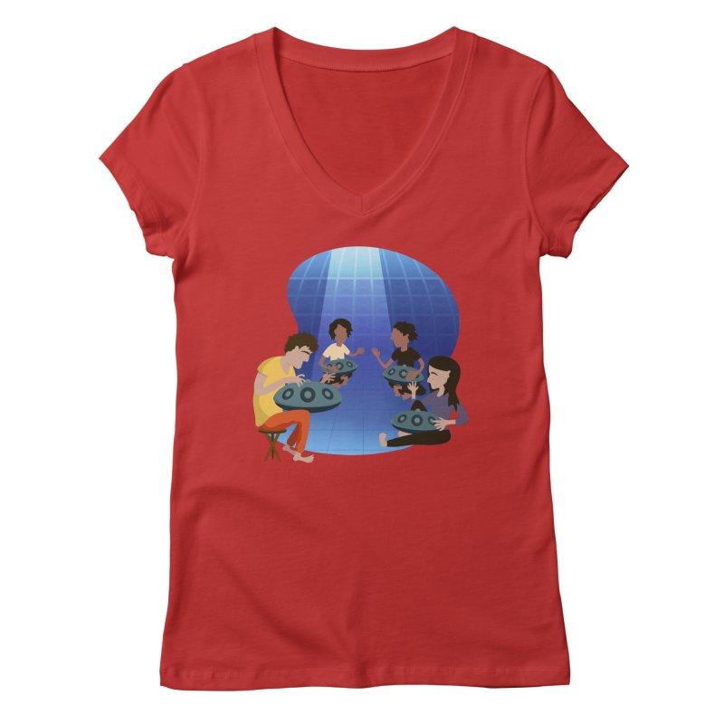Halo Family Illustration Women's Regular V-Neck by Pantheon Steel Fan-Art Store