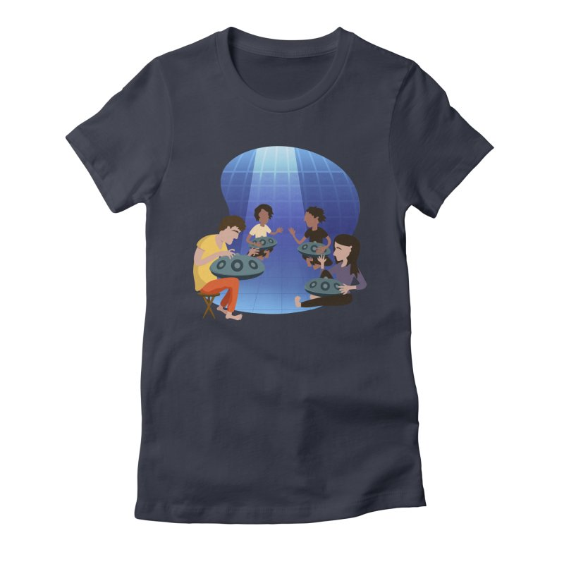 Halo Family Illustration Women's Fitted T-Shirt by Pantheon Steel Fan-Art Store