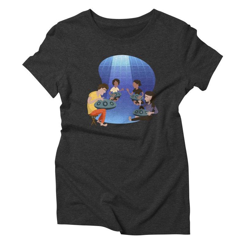 Halo Family Illustration Women's Triblend T-Shirt by Pantheon Steel Fan-Art Store