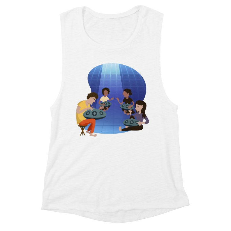 Halo Family Illustration Women's Muscle Tank by Pantheon Steel Fan-Art Store