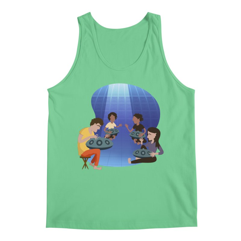 Halo Family Illustration Men's Regular Tank by Pantheon Steel Fan-Art Store