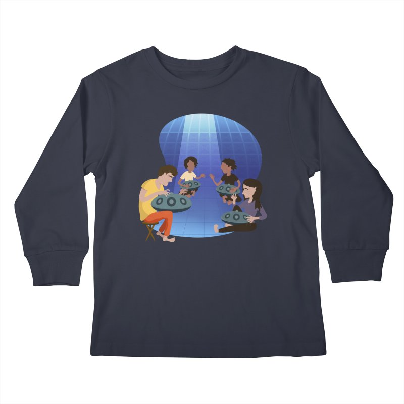 Halo Family Illustration Kids Longsleeve T-Shirt by Pantheon Steel Fan-Art Store