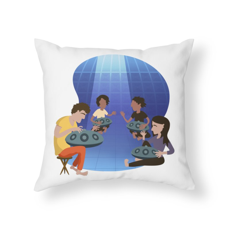 Halo Family Illustration Home Throw Pillow by Pantheon Steel Fan-Art Store