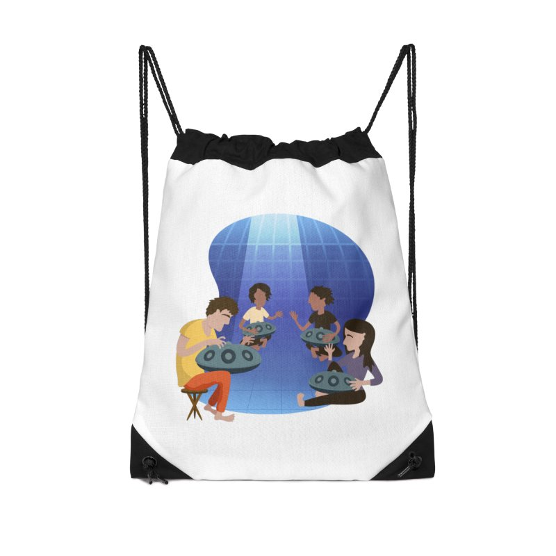 Halo Family Illustration Accessories Drawstring Bag Bag by Pantheon Steel Fan-Art Store