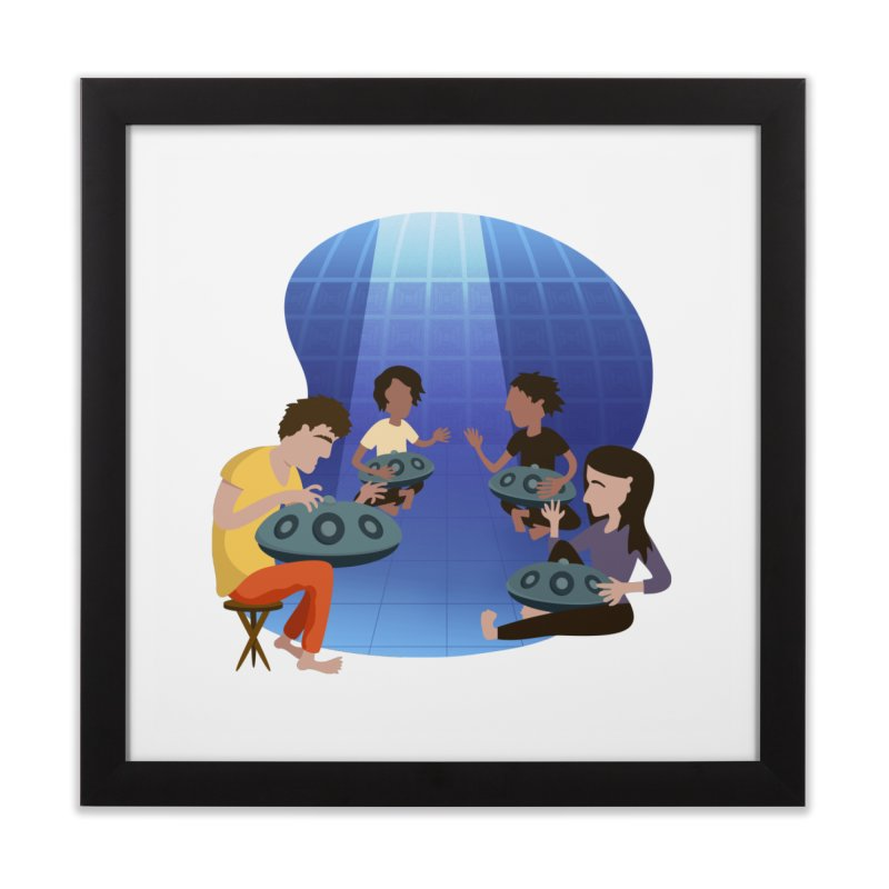 Halo Family Illustration Home Framed Fine Art Print by Pantheon Steel Fan-Art Store