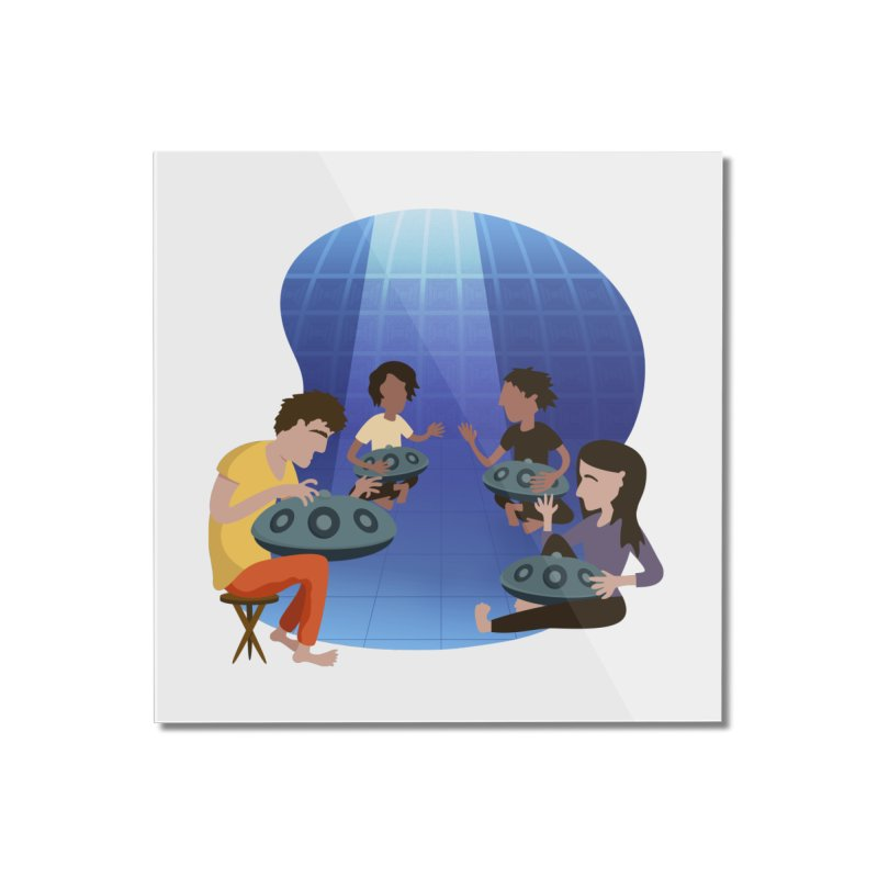 Halo Family Illustration Home Mounted Acrylic Print by Pantheon Steel Fan-Art Store