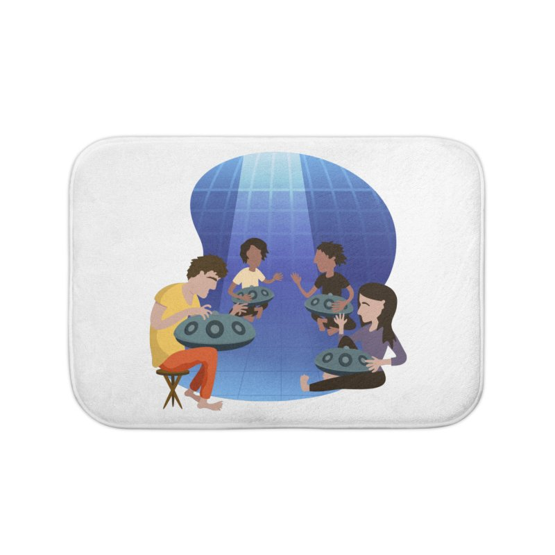 Halo Family Illustration Home Bath Mat by Pantheon Steel Fan-Art Store