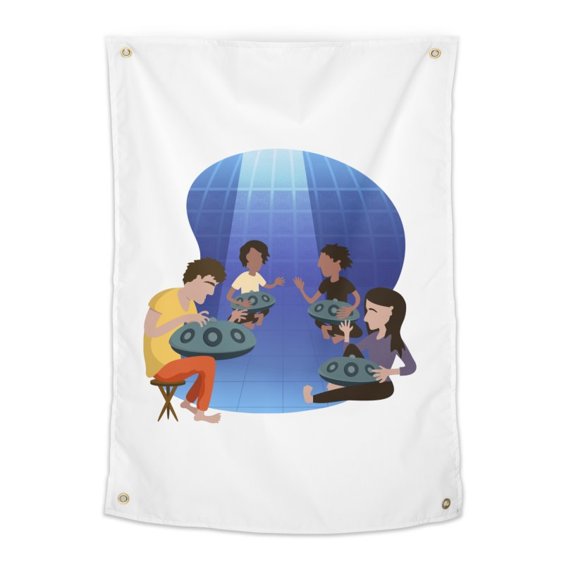 Halo Family Illustration Home Tapestry by Pantheon Steel Fan-Art Store