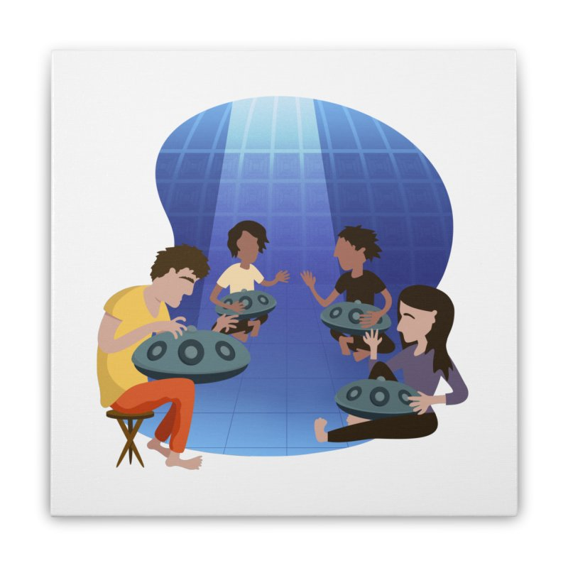 Halo Family Illustration Home Stretched Canvas by Pantheon Steel Fan-Art Store