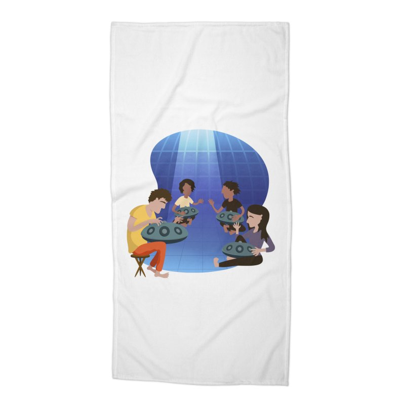 Halo Family Illustration Accessories Beach Towel by Pantheon Steel Fan-Art Store