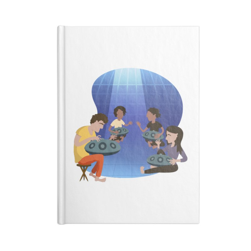 Halo Family Illustration Accessories Blank Journal Notebook by Pantheon Steel Fan-Art Store