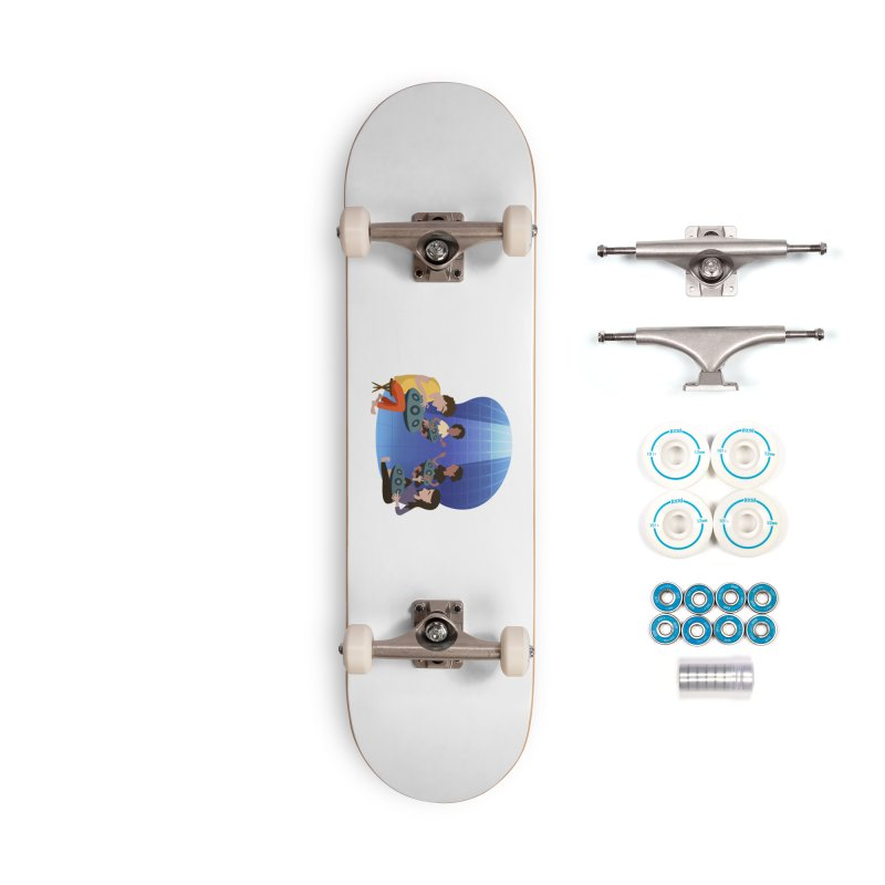 Halo Family Illustration Accessories Complete - Basic Skateboard by Pantheon Steel Fan-Art Store