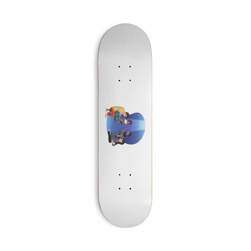 Halo Family Illustration Accessories Deck Only Skateboard by Pantheon Steel Fan-Art Store