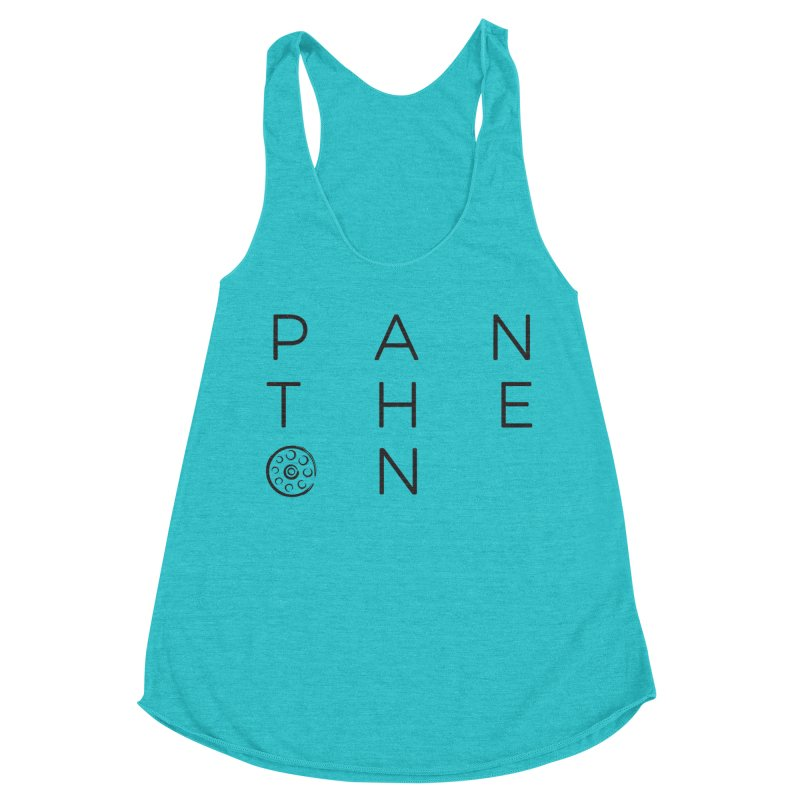 Letters by Shane Caroll Women's Racerback Triblend Tank by Pantheon Steel Fan-Art Store