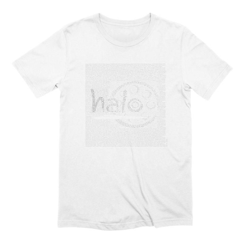Text Art by Shiva Nouri Men's Extra Soft T-Shirt by Pantheon Steel Fan-Art Store