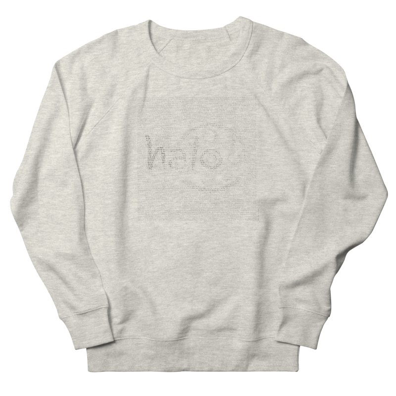 Text Art by Shiva Nouri Men's French Terry Sweatshirt by Pantheon Steel Fan-Art Store