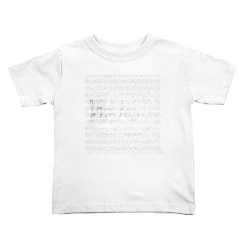 Text Art by Shiva Nouri Kids Toddler T-Shirt by Pantheon Steel Fan-Art Store