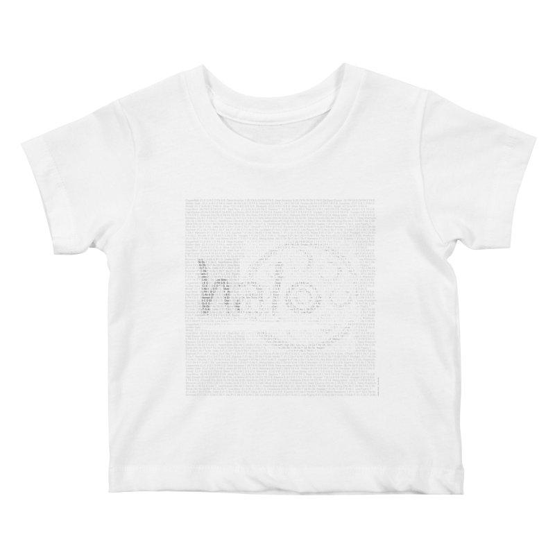 Text Art by Shiva Nouri Kids Baby T-Shirt by Pantheon Steel Fan-Art Store