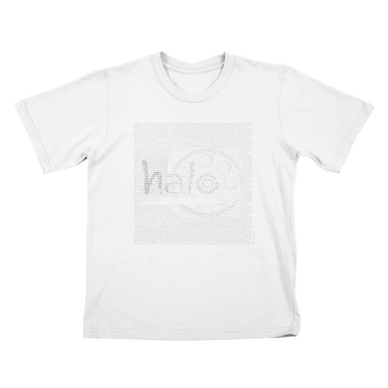 Text Art by Shiva Nouri Kids T-Shirt by Pantheon Steel Fan-Art Store