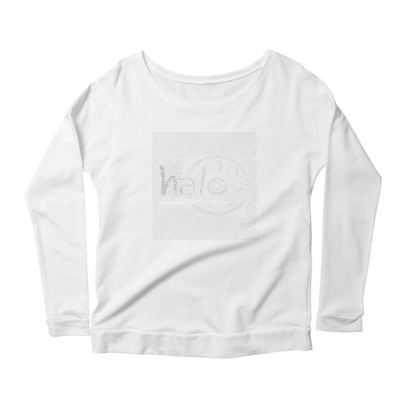 Text Art by Shiva Nouri Women's Scoop Neck Longsleeve T-Shirt by Pantheon Steel Fan-Art Store