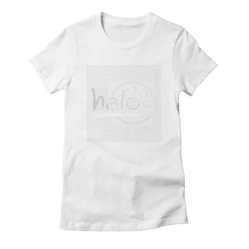Text Art by Shiva Nouri Women's Fitted T-Shirt by Pantheon Steel Fan-Art Store