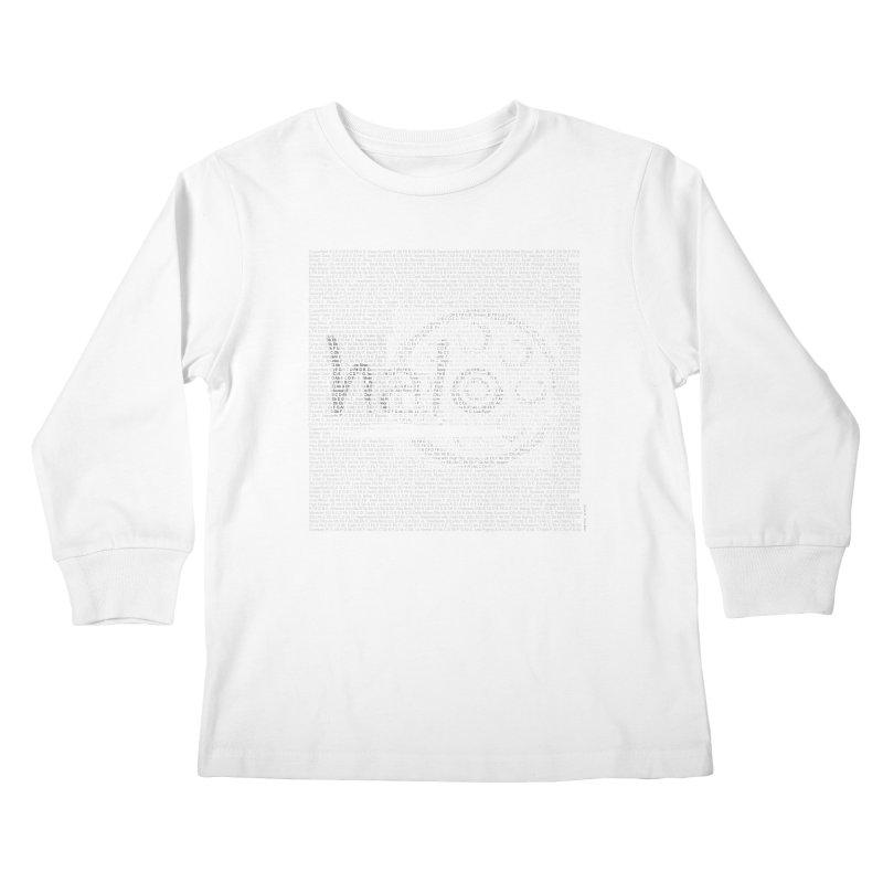 Text Art by Shiva Nouri Kids Longsleeve T-Shirt by Pantheon Steel Fan-Art Store