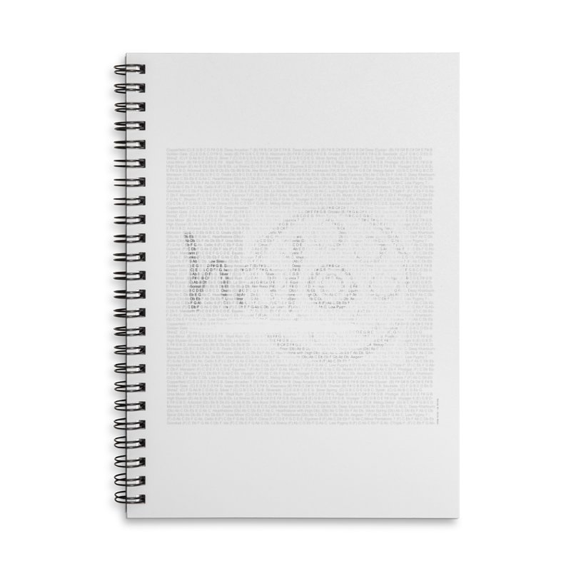 Text Art by Shiva Nouri Accessories Lined Spiral Notebook by Pantheon Steel Fan-Art Store