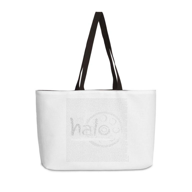Text Art by Shiva Nouri Accessories Weekender Bag Bag by Pantheon Steel Fan-Art Store