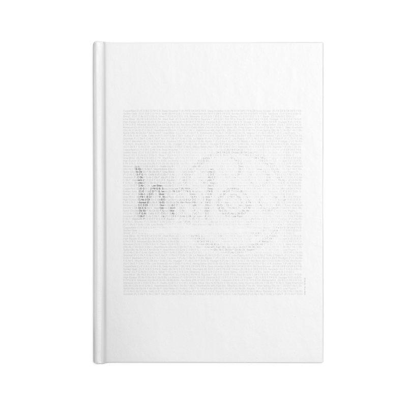 Text Art by Shiva Nouri Accessories Lined Journal Notebook by Pantheon Steel Fan-Art Store