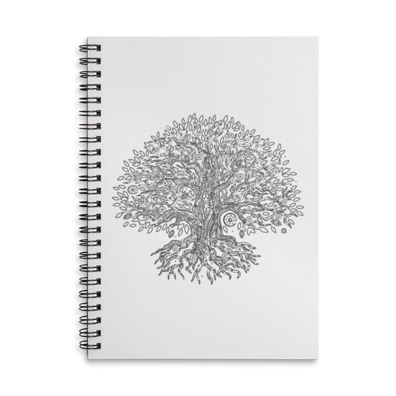 Halo Tree (Black) Accessories Lined Spiral Notebook by Pantheon Steel Fan-Art Store