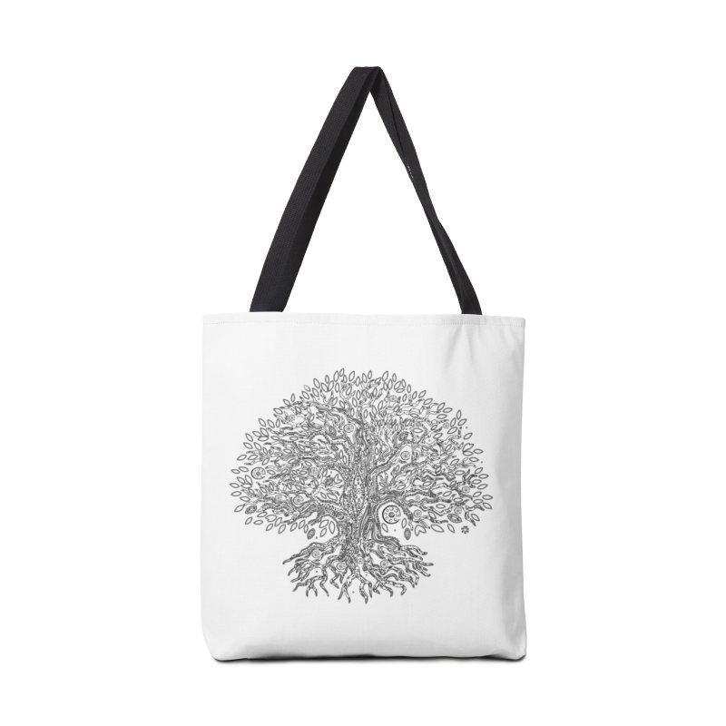 Halo Tree (Black) Accessories Tote Bag Bag by Pantheon Steel Fan-Art Store