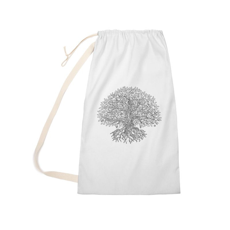 Halo Tree (Black) Accessories Laundry Bag Bag by Pantheon Steel Fan-Art Store