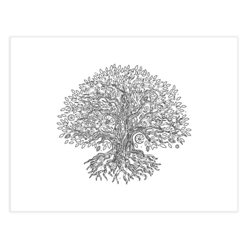 Halo Tree (Black) Home Fine Art Print by Pantheon Steel Fan-Art Store