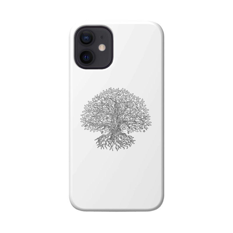 Halo Tree (Black) Accessories Phone Case by Pantheon Steel Fan-Art Store