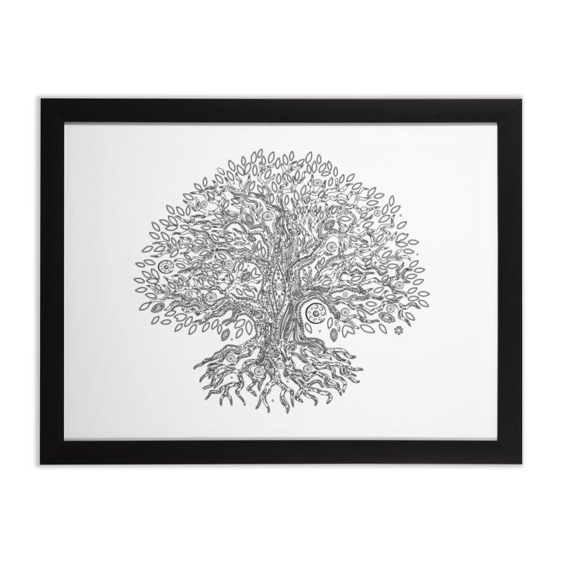 Halo Tree (Black) Home Framed Fine Art Print by Pantheon Steel Fan-Art Store